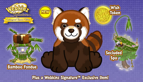Image of: Endangered Animals Signature Endangered Red Panda Webkinz Newz Ganzworld Signature Endangered Red Panda Wkn Webkinz Newz
