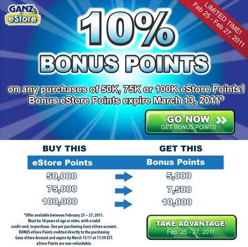 Earn 10 bonus pointss?