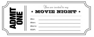 Movie Ticket Invitation Template