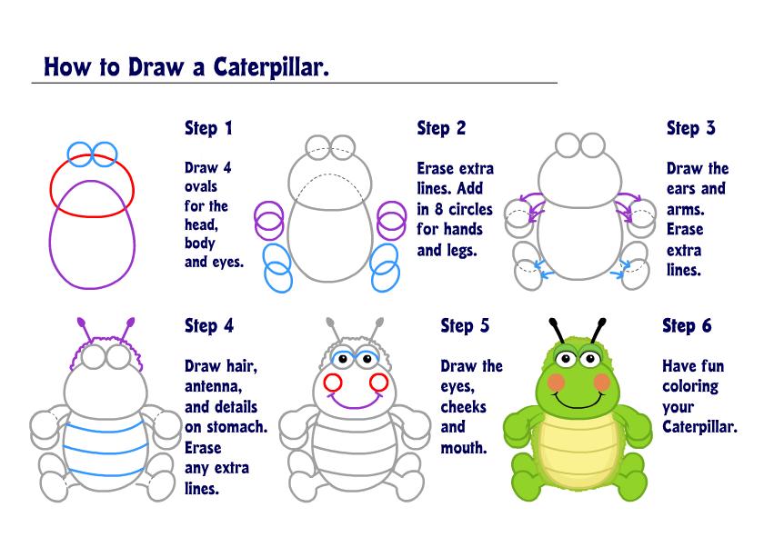 Learn How To Draw A Caterpillar Wkn Webkinz Newz
