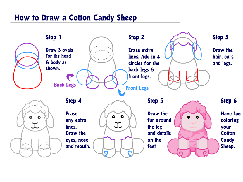 how to draw cotton candy