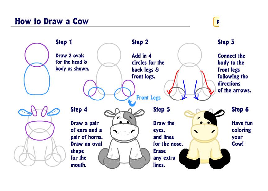Learn how to Draw a Cow! | WKN: Webkinz Newz