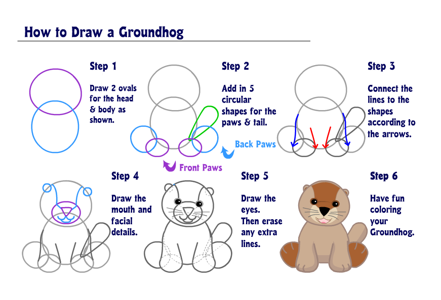 16 responses to learn how to draw a groundhog