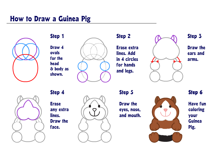 how to draw a pig george