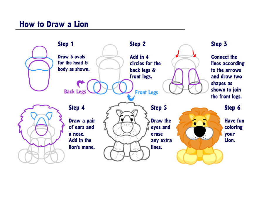 15 responses to learn how to draw a lion
