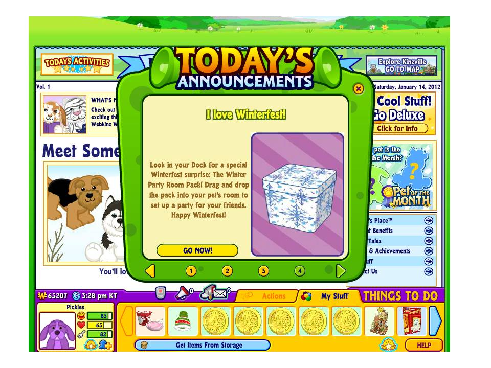 Log in to your account today to see yours. Did you get you Free Party Pack    WKN  Webkinz Newz