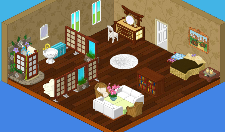 Hailey and I decided to keep the floor and change the wall color  We went  with a very light brown to keep the room tranquil  My favorite change was  the. Roberta s Parents  Bedroom  Before   After   WKN  Webkinz Newz