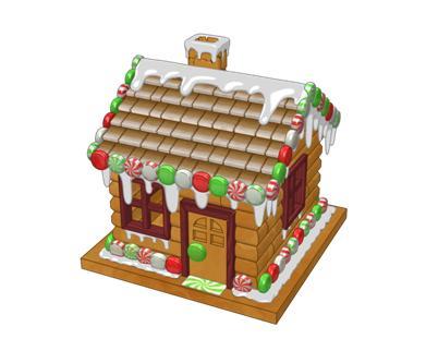 New Gingerbread Cabin Building Kit Wkn Webkinz Newz