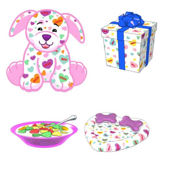 Sneak Peek Sweetheart Pup Wkn Webkinz Newz