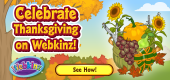 Celebrate Thanksgiving on Webkinz