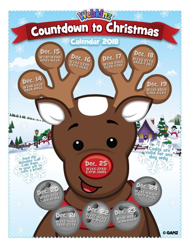 Sneak Peek: Printable Countdown Calendar with FREE Codes! | WKN