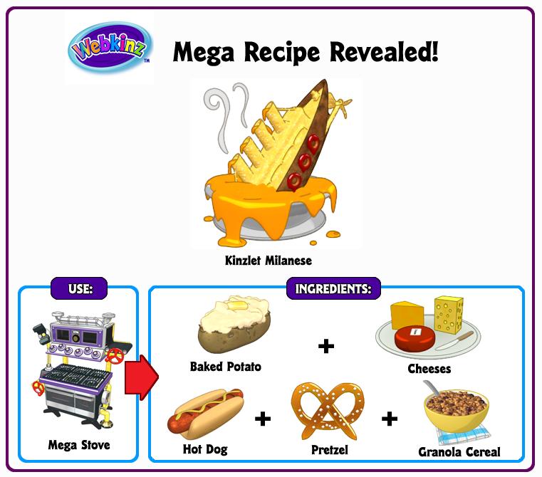 Webkinz Food Recipes For Mega Stove