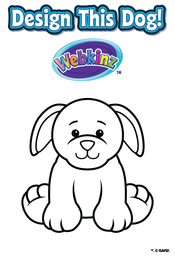 Design a dog contest wkn webkinz newz for Webkinz coloring pages