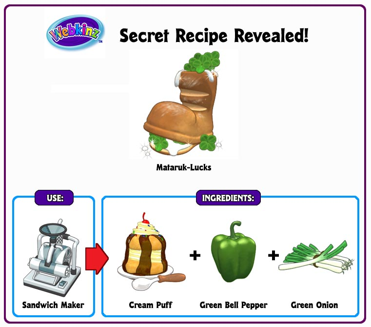 secret recipes archive wkn webkinz newz