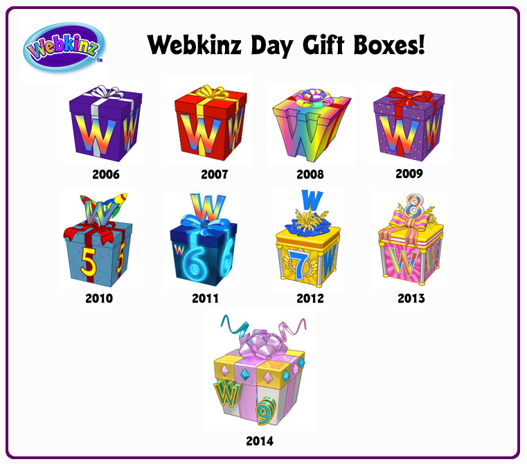 Throwback Thursday: Webkinz Day Gift Boxes and Trophies! | WKN ...