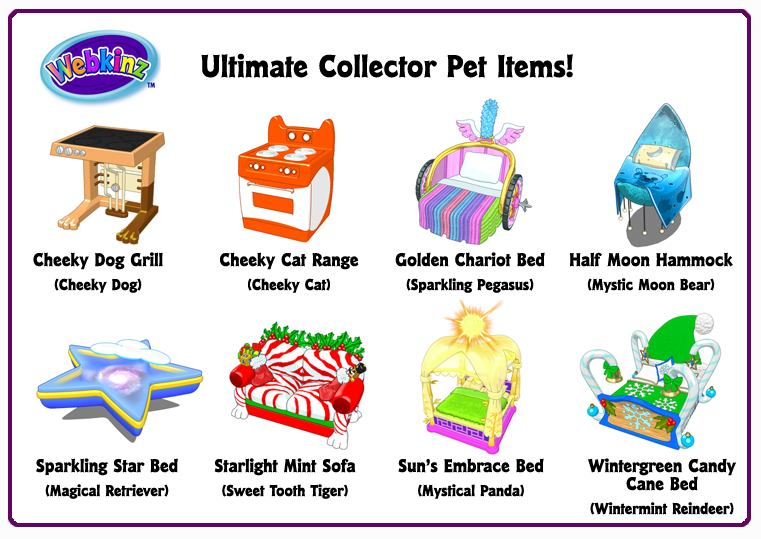 Ultimate Collector S Items Pet Items Wkn Webkinz Newz