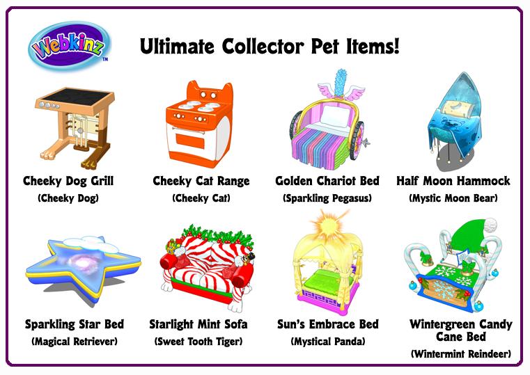 Ultimate Collector S Items Pet Items Wkn Webkinz Newz