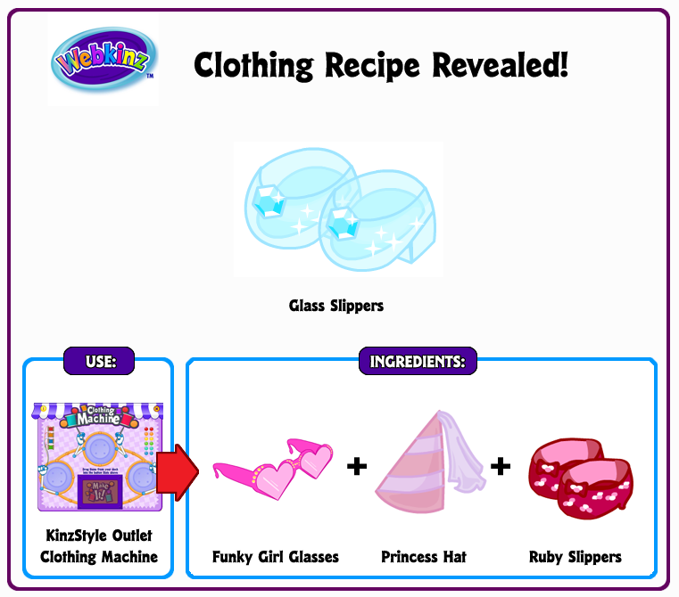 Webkinz recipes getwebs 236 responses to glass slippers clothing recipe revealed misrateru drupplings webkinz secret recipe forumfinder Choice Image