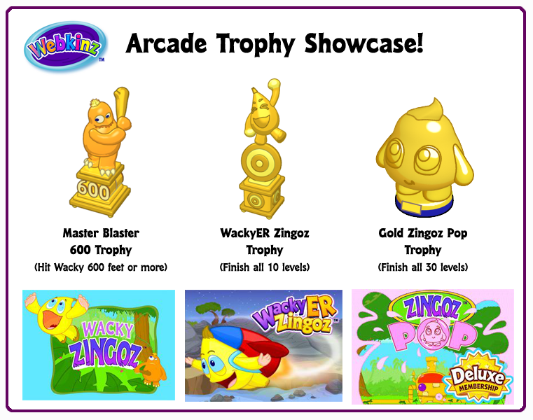 neopets how to get game trophies