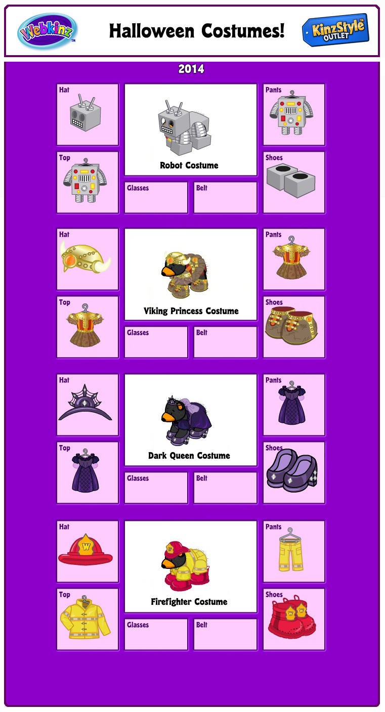 200 responses to 2014 halloween costumes in the kinzstyle outlet - Webkinz Halloween Costumes