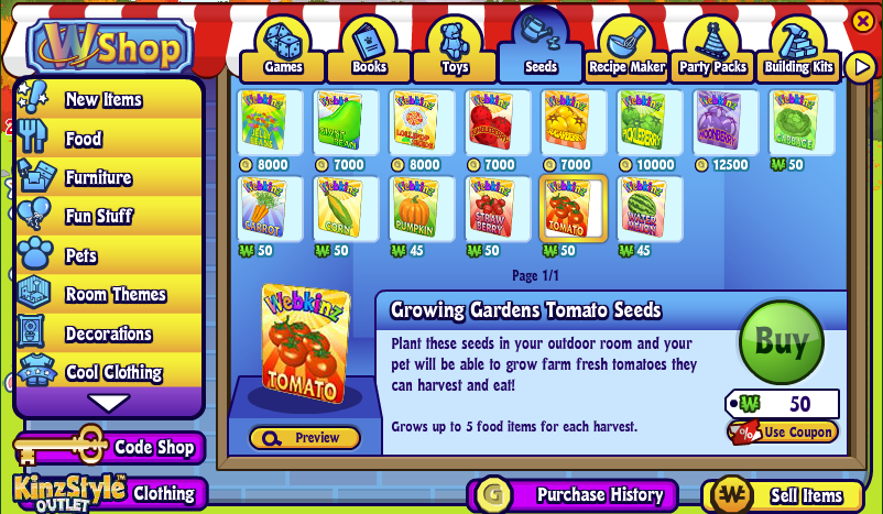 Growing Garden Gallery Wkn Webkinz Newz