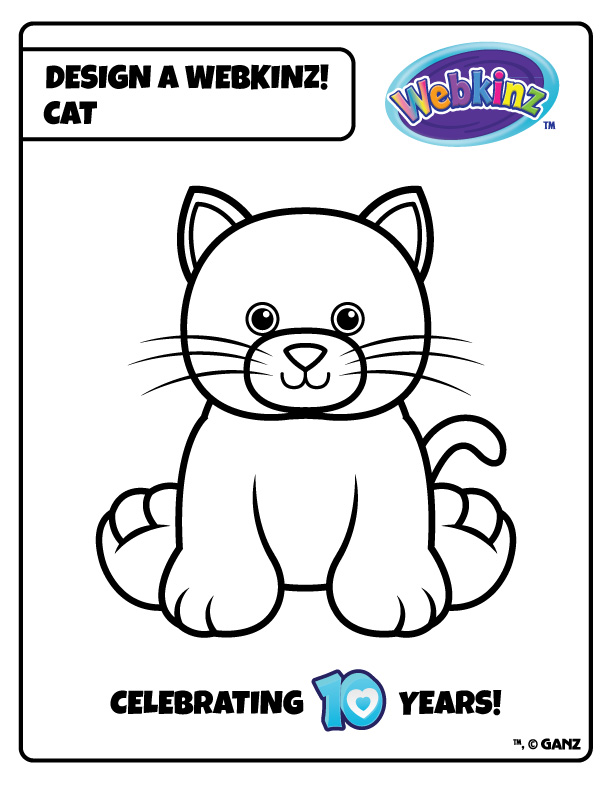 webkinz pets coloring pages - photo#18