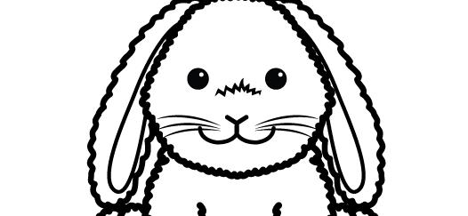 HoppyFloppyBunnyColoringSheet