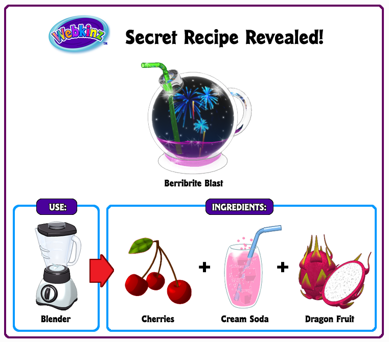 Berribrite blast secret recipe revealed wkn webkinz newz 38 responses to berribrite blast secret recipe revealed forumfinder Choice Image