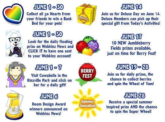 June Calendar Events : June events calendar wkn webkinz newz