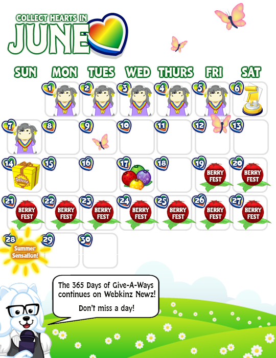 What. June Events Calendar   WKN  Webkinz Newz