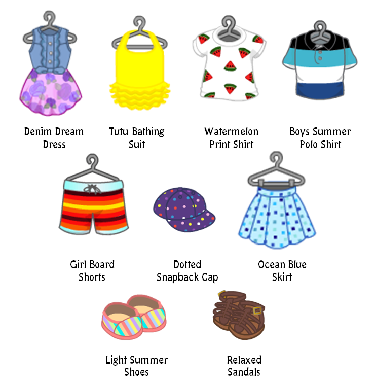 Summer Clothing Line Fashion! | WKN: Webkinz Newz