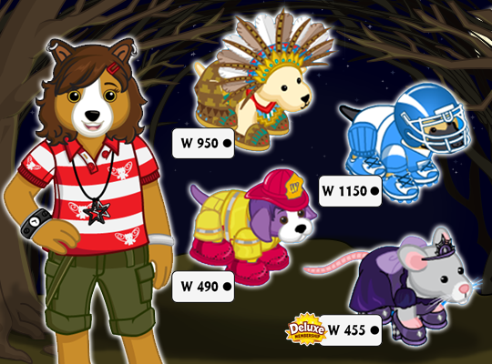 november 10th to collect this years halloween costumes from the kinzstyle outlet before theyre gone you never know which ones will be returning next - Webkinz Halloween Costumes