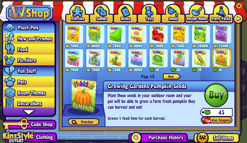 Grow Your Own Food To Earn Extra Kinzcash Wkn Webkinz Newz
