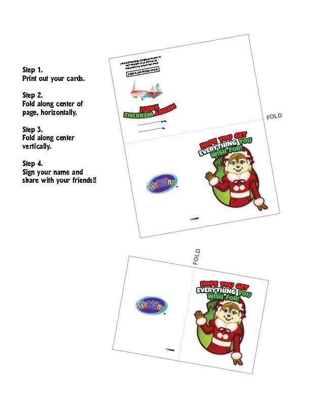 Printable Christmas Cards with CODES!!! | WKN: Webkinz Newz