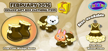 Accent the February Deluxe Gift Box item with a Pom Pom Winter Dress!