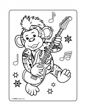 Webkinz Pages Monkey Monkey Coloring Pages