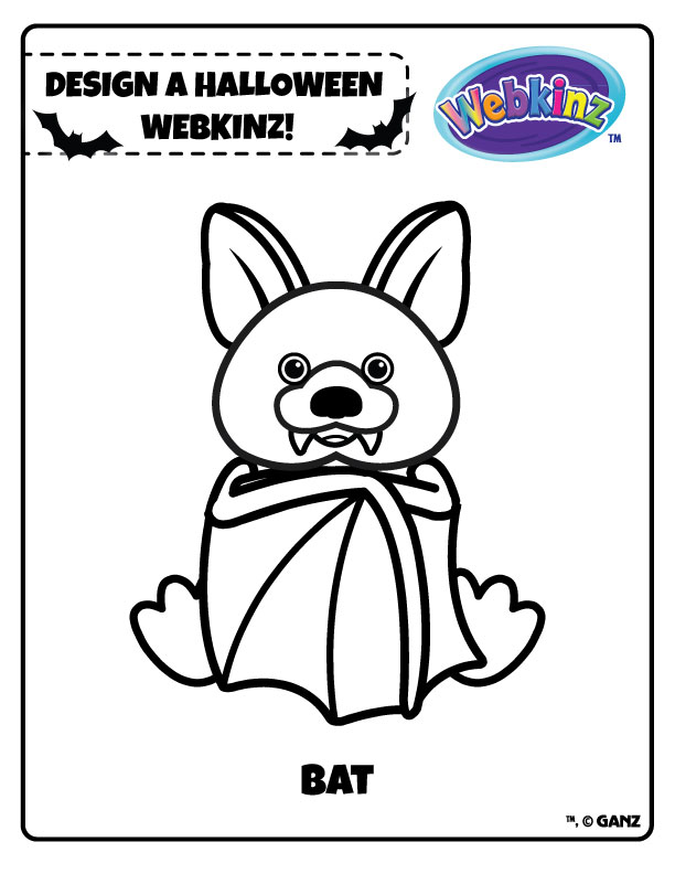 webkinz halloween coloring pages - photo#3