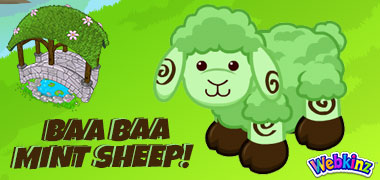 The Mint Chocolate Sheep has arrived in Webkinz World!