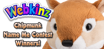 Chipmunk Name Me Contest Winners