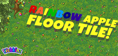 The Rainbow Apple Floor Tile is a perfect companion to August's Candy Tree!