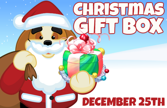 log into webkinz world on december 25th to get your 2017 christmas gift box it will be awarded to your dock as soon as you log in