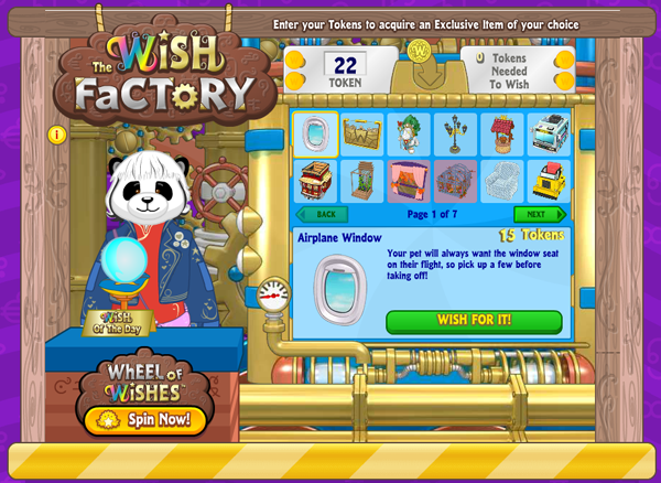Webkinz wish token prizes for carnival games