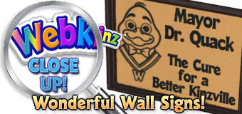 WEBKINZ CLOSE UP - Signs - Featured
