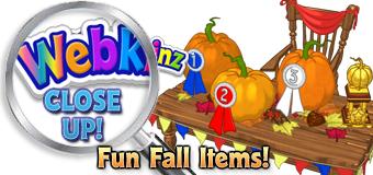 WEBKIN CLOSE UP - Fun Fall Items - Featured
