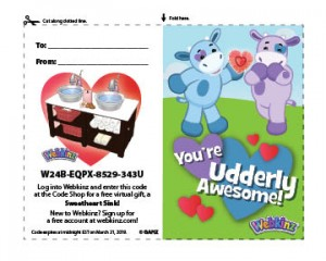 Printable Valentine's Card with FREE Code! | WKN: Webkinz Newz
