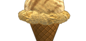 Butterscotch Ripple Ice Cream Cone