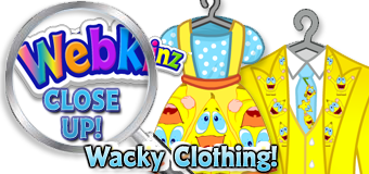 WEBKINZ CLOSE UP - Wacky Clothing - Featured