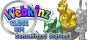 WEBKINZ CLOSE UP - STATUES - Featured
