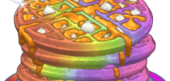 Chocolate Rainbow Waffles