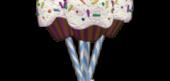 Radical Rainbow Cupcake Pop